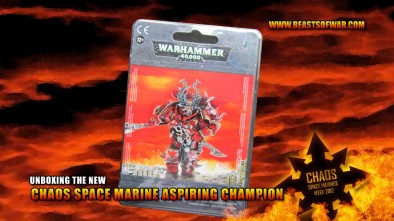 Unboxing the Chaos Space Marine Aspiring Champion