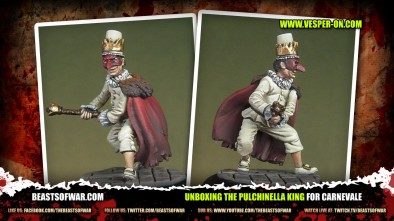 Unboxing the Pulchinella King for Carnevale