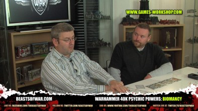 Warhammer 40K Psychic Powers: Biomancy