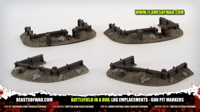 Battlefield in a Box: Log Emplacements - Gun Pit Markers
