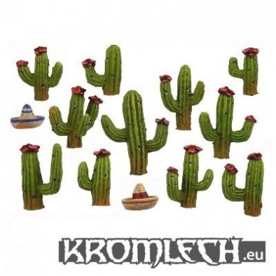 Cacti with Two Spare Sombreros.