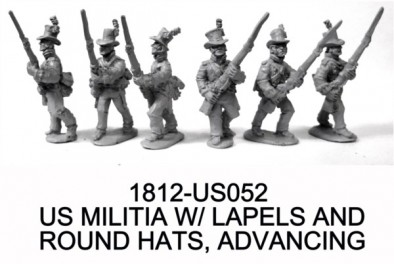 US Miltia with Lapels & Round Hats