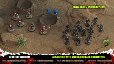 Assaulting with Warhammer 40K Characters