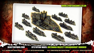 Dystopian Wars: Britannia Majesty Dreadnought Unboxed