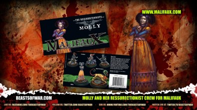 Molly and her Ressurectionist Crew for Malifaux
