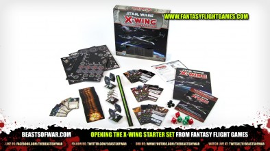 Opening the X-Wing Starter Set from Fantasy Flight Games