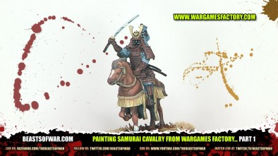 Painting Samurai Cavalry from Wargames Factory... Part 1