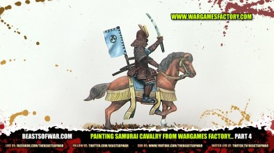 Painting Samurai Cavalry from Wargames Factory... Part 4