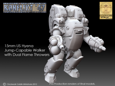 15mm US Hyena Jump Capable Walker with Heavy Flamers