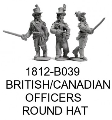 British & Canadian Officers in Round Hats