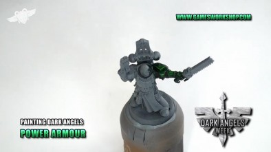 Painting Dark Angels Power Armour
