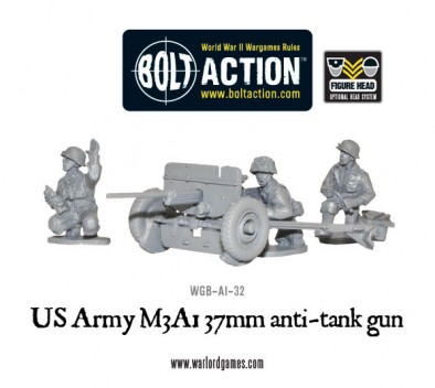US Army M3A1 37mm Anti Tank Gun