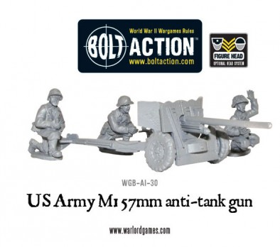 US Army M1 57mm Anti Tank Gun
