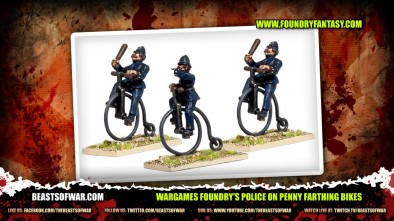 Wargames Foundry's Police on Penny Farthing Bikes