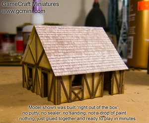 GameCraft - 10mm One Story Small Half Timber House