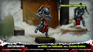 Game: Infinity Army: PanOceania Model(s): Crusader Brethren