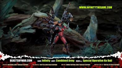 Game: Infinity Army: Combined Army Model(s): Special Operative Ko Dali
