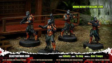 Game: Infinity Army: Yu Jing Model(s): Bào Troops
