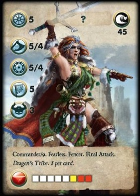 Unknown Warrior Woman Gaming Card