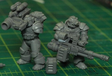 Exo-Lord Missile launcher Autocannon and Black Ops Suppression Team