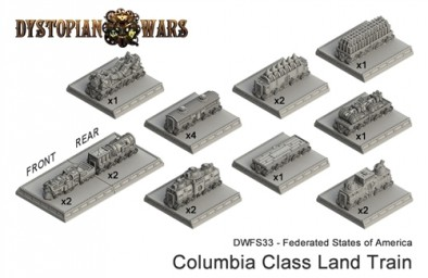 Federated States of America Columbia Class Land Train