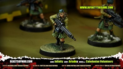 Game: Infinity Army: Ariadna Model(s): Caledonian Volunteers