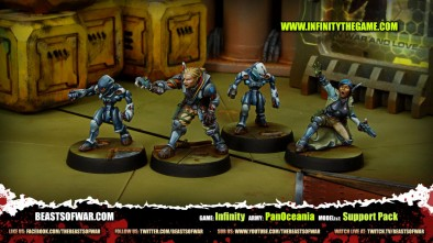 Game: Infinity Army: PanOceania Model(s): Support Pack