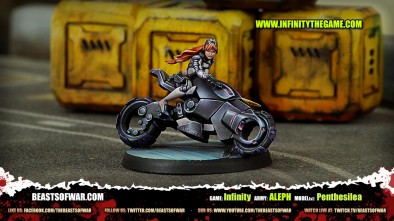 Game: Infinity Army: ALEPH Model(s): Penthesilea