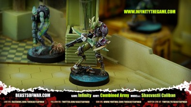 Game: Infinity Army: Combined Army Model(s): Shasvastii Caliban