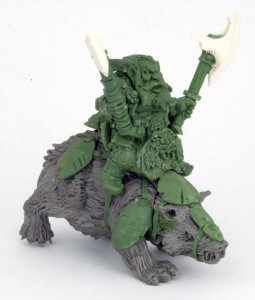 Mantic Dwarf Badger Rider