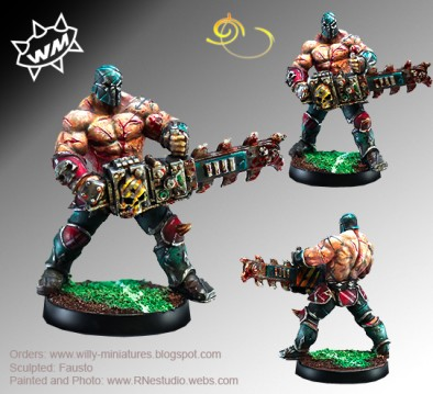 Chaos Star Player With Chainsaw