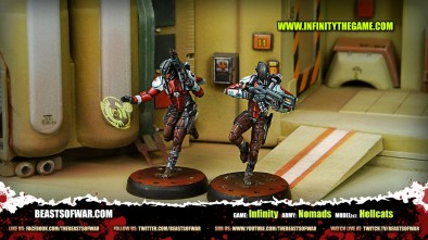 Game: Infinity Army: Nomads Model(s): Hellcats