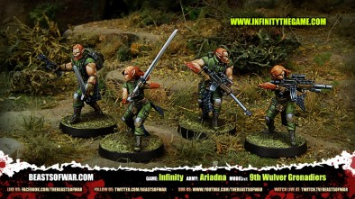 Game: Infinity Army: Ariadna Model(s): 9th Wulver Grenadiers