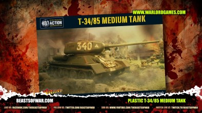 Plastic T 34-85 medium tank