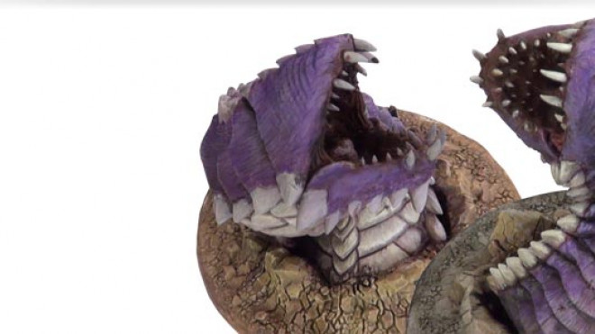 Painting the D&D: Purple Worm Part 3