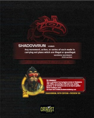 Shadowrun Rules Preview