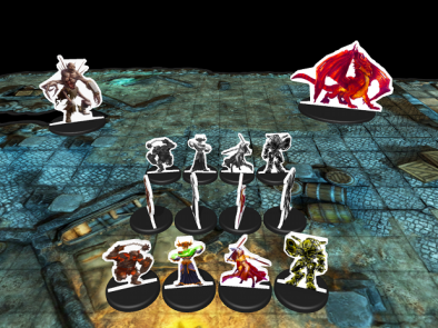 3D Virtual Tabletop Silhouette Shaped Miniatures