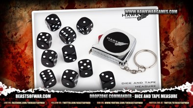 Dropzone Commander - Dice and Tape Measure