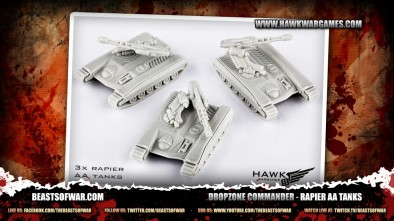 Dropzone Commander - Rapier AA Tanks