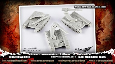 Dropzone Commander - Sabre Main Battle Tanks