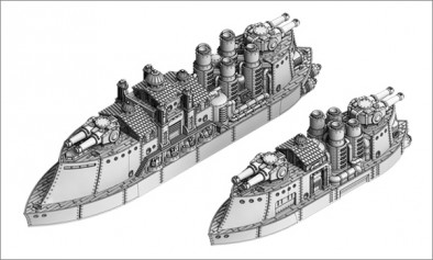 East India Merchant Company - Athea Class Pocket Battleship and Griffon Class Cruiser