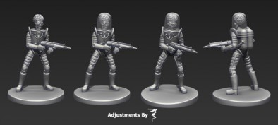Mars Attacks Martian Renders