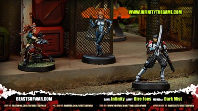 Game: Infinity Army: Dire Foes Model(s): Dark Mist