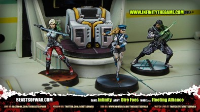 Game: Infinity Army: Dire Foes Model(s): Fleeting Alliance
