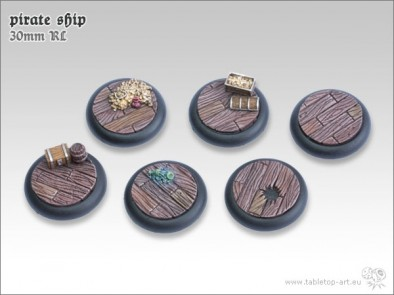 Pirate Ship Bases 30mm