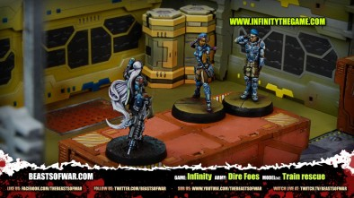 Game: Infinity Army: Dire Foes Model(s): Train rescue