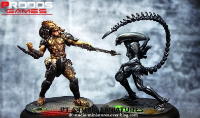 Alien and Predator Painted