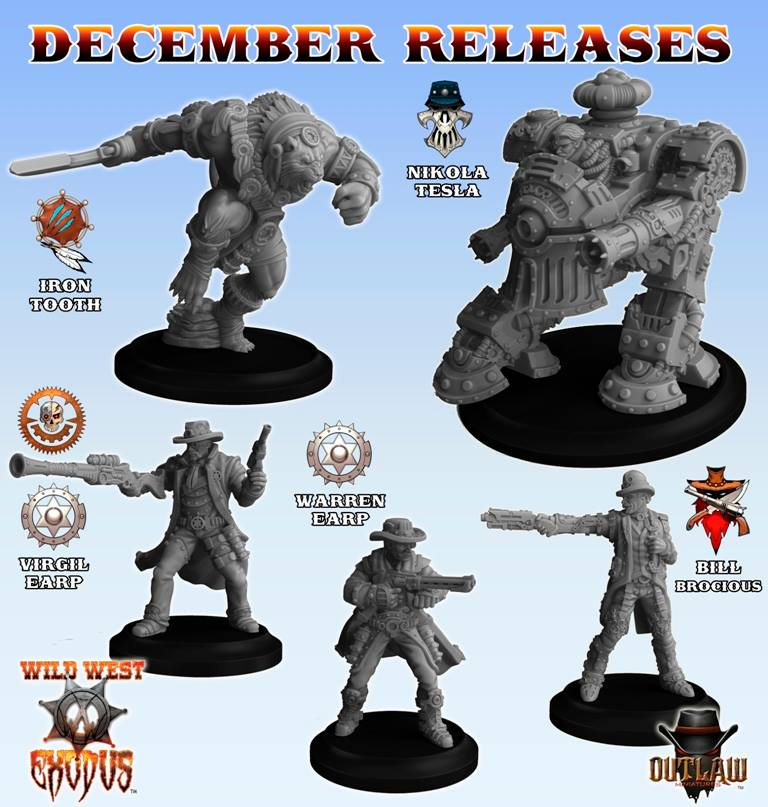 Warriors Into The Wild Setting: Holy Warriors & December Releases For Wild West Exodus