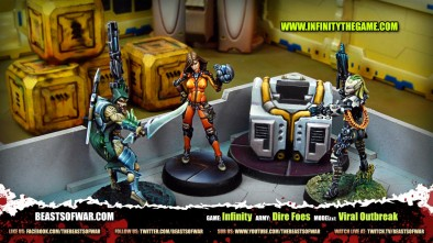 Game: Infinity Army: Dire Foes Model(s): Viral Outbreak