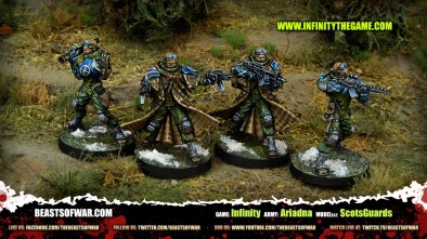 Game: Infinity Army: Ariadna Model(s): ScotsGuards